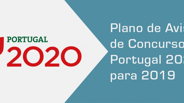 Plano de Avisos de Concursos do Portugal 2020